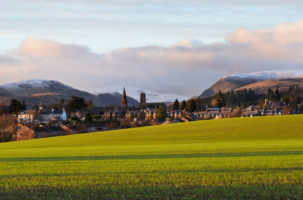 Crieff with Glen Turret beyond, November